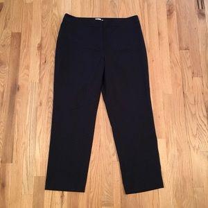 Talbots Heritage navy black polka dot pants 14P